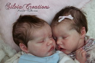 Reborn Twins A & B by Silvia Creations